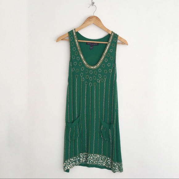 f00e4abb315 French Connection Dresses | Green Beaded 20s Flapper Dress 2 | Poshmark